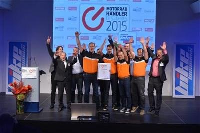 3.Platz Motorradhändler des Jahres 2015