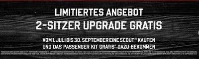 Scout 2-Sitzer-Upgrade gratis