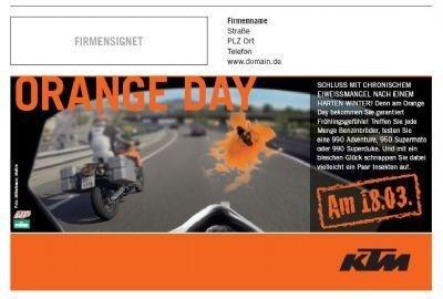 Orange Day - KTM Saisonstart