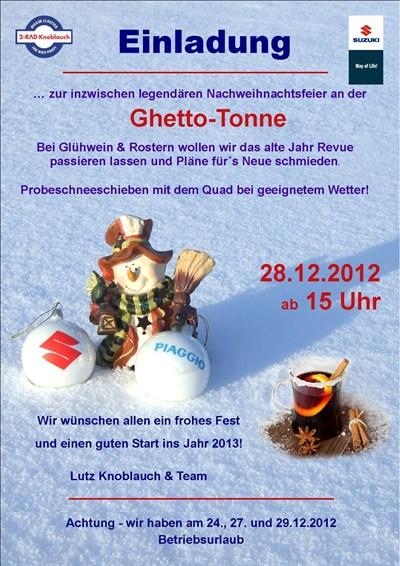 Ghetto-Tonnen-Party