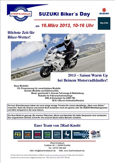 SUZUKI Bikers Day 2013