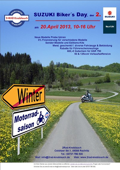 SUZUKI Bikers Day, der 2.