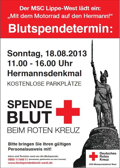 Blutspendetermin / MSC Lippe West