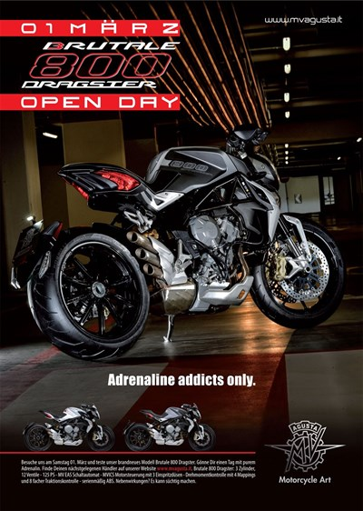 BRUTALE 800 DRAGSTER OPEN DAY