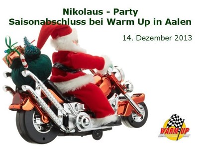 Nikolaus Party – - Saisonabschluss bei Warm Up in Aalen