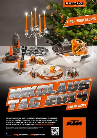 KTM Nikolaustag mit Verkauf von handgefertigtem Weihnachtsdeko