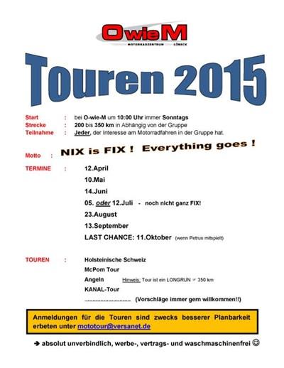 O wie M Touren 2015