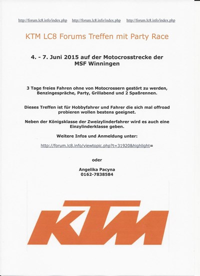 KTM LC8 Forums Treffen mit Party Race