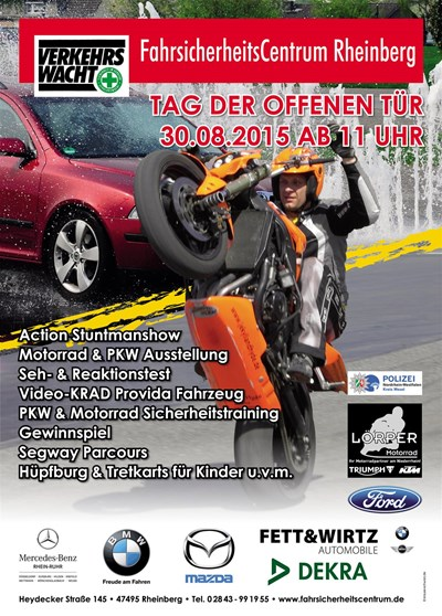 TAG DER OFFENEN TÜR beim FahrsicherheitsCentrum Rheinberg