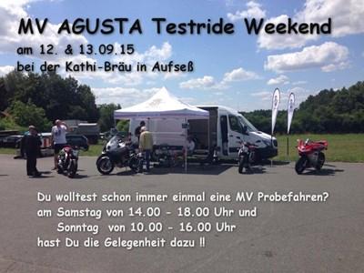 MV AGUSTA Testride Weekend