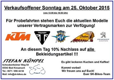 Verkaufsoffener Sonntag 25.10.