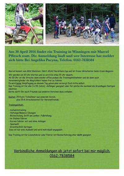 Moto-Cross Anfänger.- und Fortgeschrittenen-Training