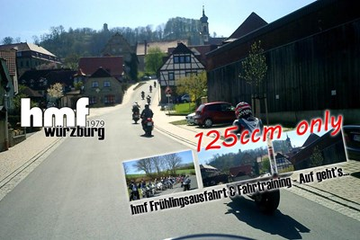 """125 ccm Bikes only - Saisonstart """"Fahrtraining & Tagestour"""""""