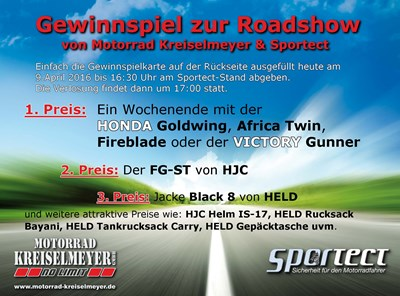 Gewinnspiel zur Honda Roadshow bei Motorrad Kreiselmeyer