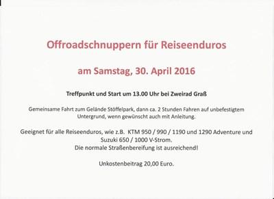 Offroadschnuppern für Reiseenduros