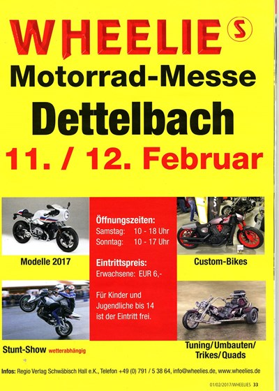 WHEELIES Motorradmesse