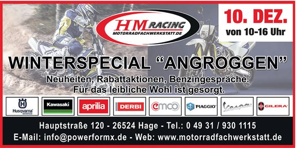"""HM Racing Motorradfachwerkstatt """" angroggen """""""