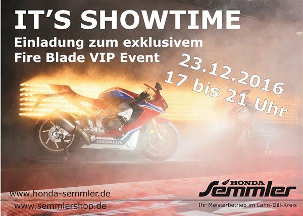 Honda Semmler - Fire Blade VIP Event
