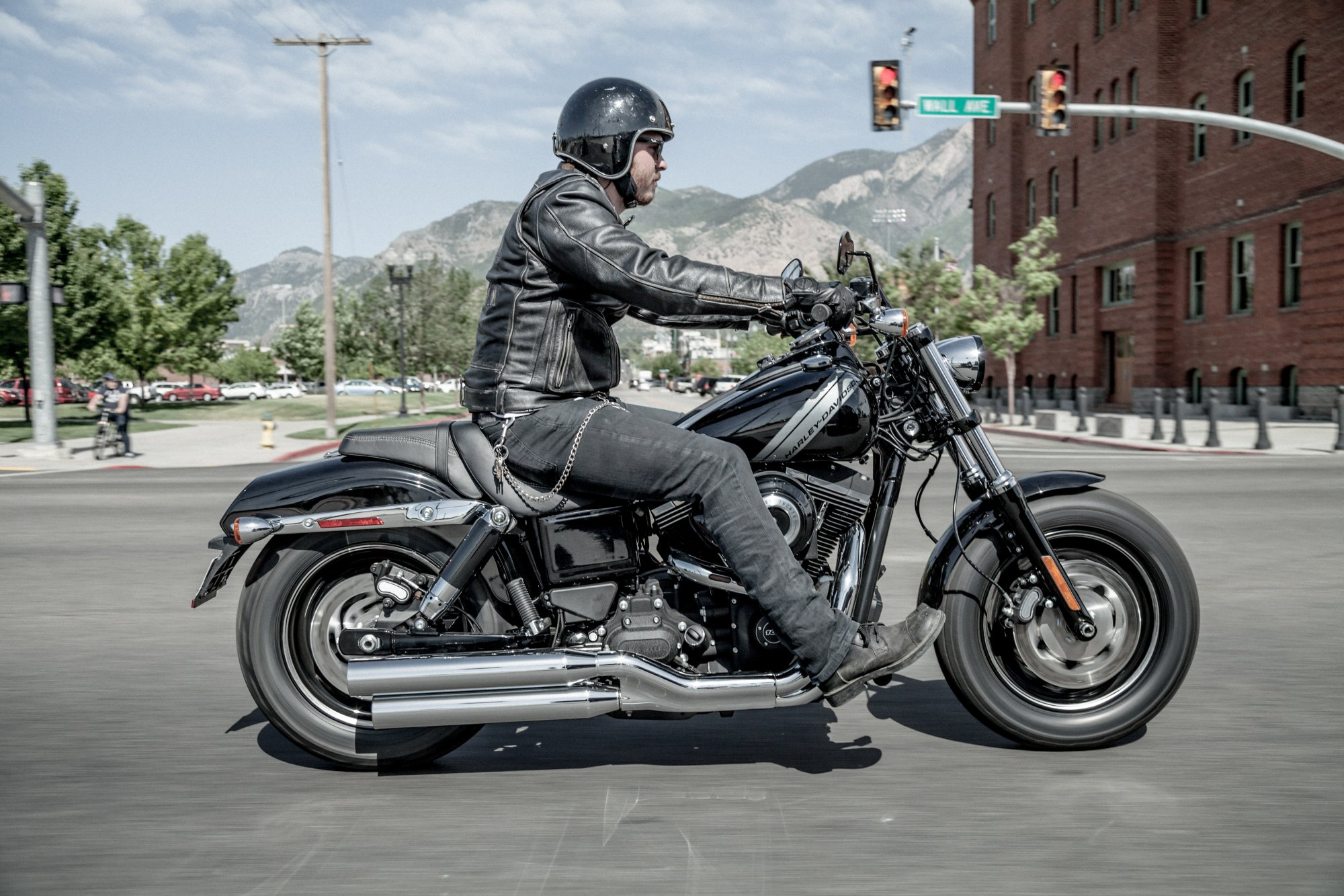 Harley Davidson Softail Fatboy Lo   Tall Guy
