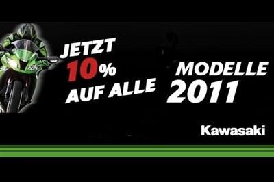 10 % auf Kawasaki Modelle 2011