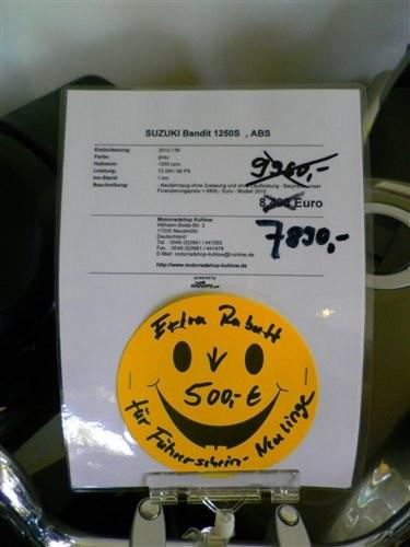 SUZUKI GSF1250SA - BANDIT - unser Motorrad Angebot der Woche !!!!
