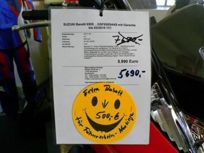 SUZUKI GSF650SA - BANDIT - unser Motorrad Angebot der Woche !!!!