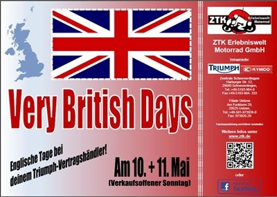 VERY BRITISH DAYS am 10. + 11. Mai