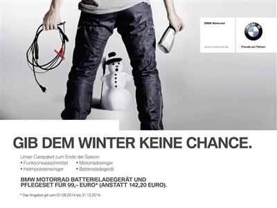 BMW Motorrad Ladegerät und Pflegeset erhältlich!