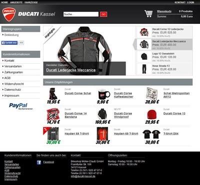 Ducati Kassel Online Shop