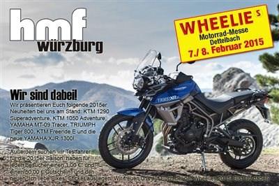 hmf auf der Wheelies Motorradmesse mit vielen Neuheiten!