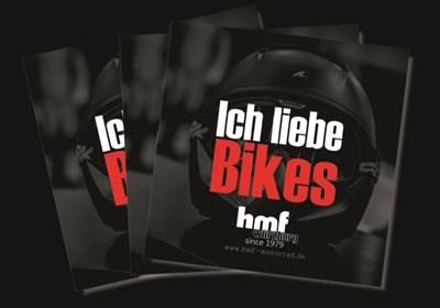 """Bald erhältlich: hmf """"Ich liebe Bikes"""" Sticker 2015"""