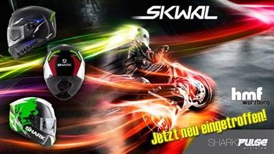 SHARK Skwal - der erste Helm mit Blink-LED zur Fahrsicherheit