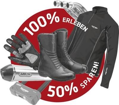 Neue TRIUMPH Promotion bei hmf: 100% Erleben. 50% Sparen.