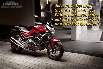 Führerscheinzuschuss jetzt noch bei uns auf NC750S und X Modelle sichern