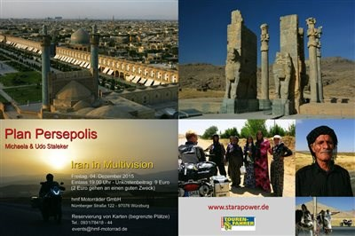 "Multivision-Abend ""Plan Persepolis"" bei hmf am 04.12.2015. Beginn 19 Uhr."