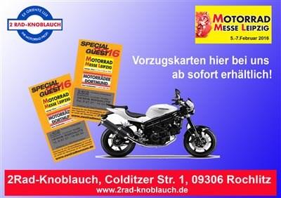 Vorzugskarten für Motorradmesse hier erhältlich...