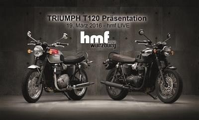 Triumph Bonneville T120 - sie ist auf dem Weg!