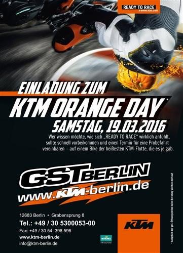 KTM GST Orangeday Sa. 19.03.2016