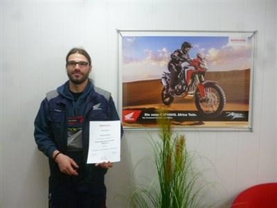 Wir gratulieren zum Honda Reparatur Techniker