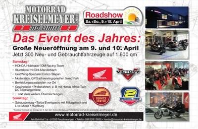 Neueröffnung am 09.04.2016 bei Motorrad Kreiselmeyer in Feuchtwangen