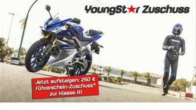 YAMAHA unterstützt Motorradeinsteier mit einem 250 Euro Führerschein Zuschuss