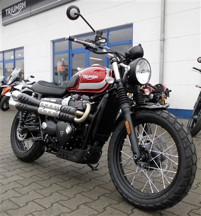 neu eingetroffen street scrambler triumph bad kreuznach. Black Bedroom Furniture Sets. Home Design Ideas