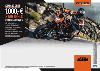 1000,00 € Startgeld für KTM 690 Duke