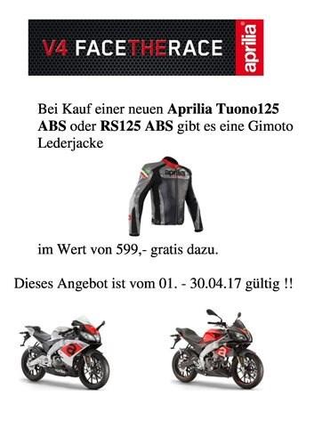 Aktion Aprilia RS 125 & Tuono 125
