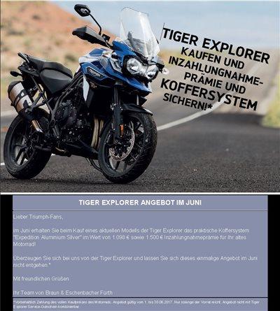 Triumph Explorer Promotion Aktion 2017