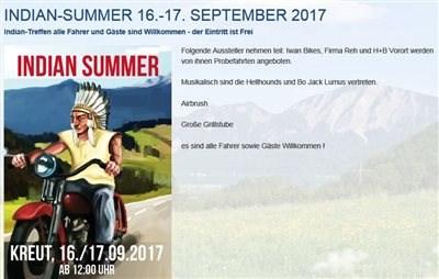 Indian Summer 16.-17. 09. 2017 Vorankündigung