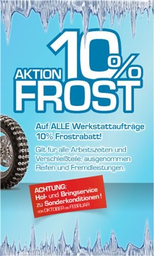 """Winteraktion """"10% Frost"""""""