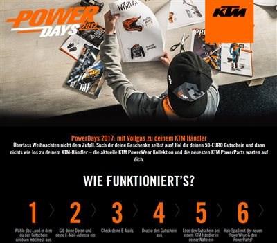 KTM PowerDays - 50 € geschenkt!