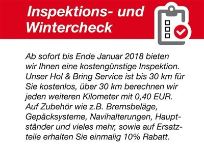 Honda Semmler - Winter - Inspektion