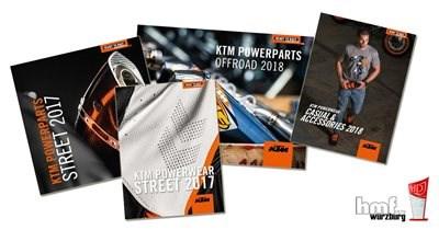 KTM Powerparts und Powerwear Kataloge